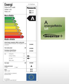 En varmepumpe fra Panasonic kan give en besparelse på op til 50% af varmeudgifterne sammenlignet med opvarmning med el.